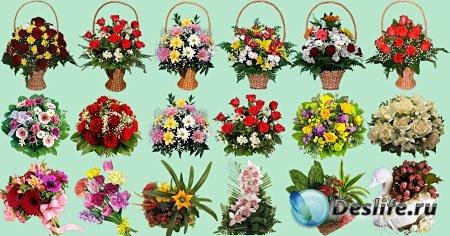 Цветочный клипарт - Букеты