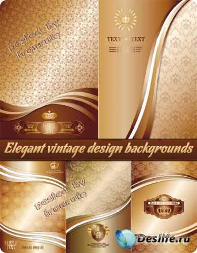 Элегантные фоны в винтажном дизайне