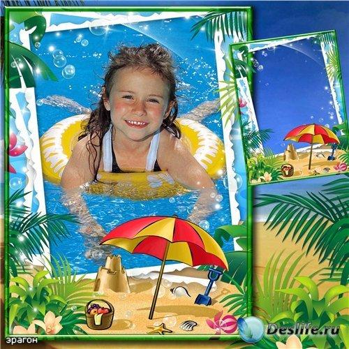 Детская рамка для фотошопа – Морская радость