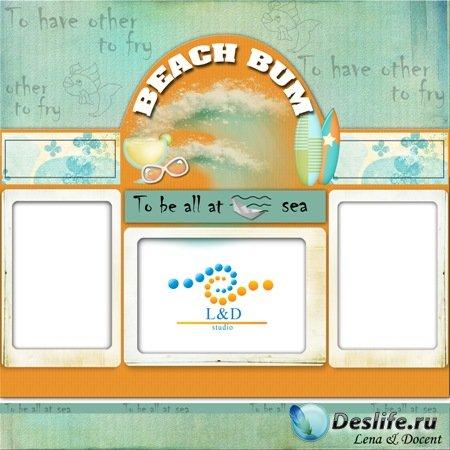 Рамка для фото - Beach Bum