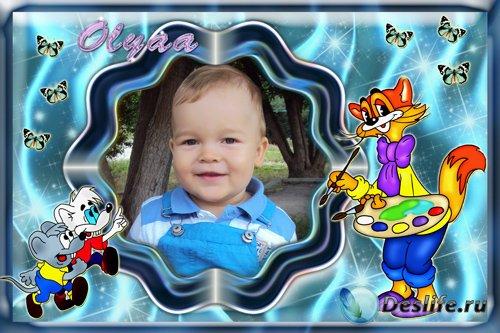 Детская рамочка для фото - Кот Леопольд