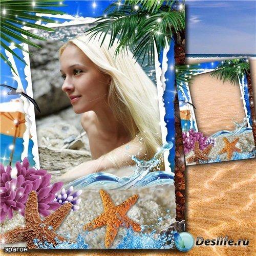 Женская рамка для фотошопа – Морская тишь