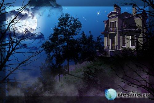 PSD исходник - Дом на холме