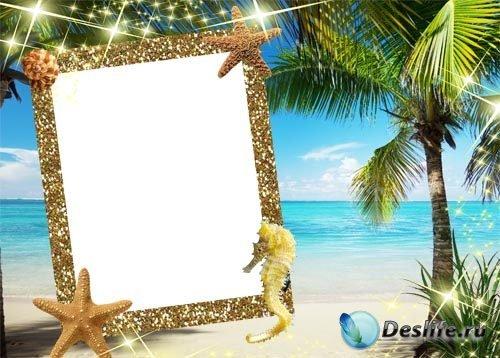 Рамка для фотошопа – Райский остров