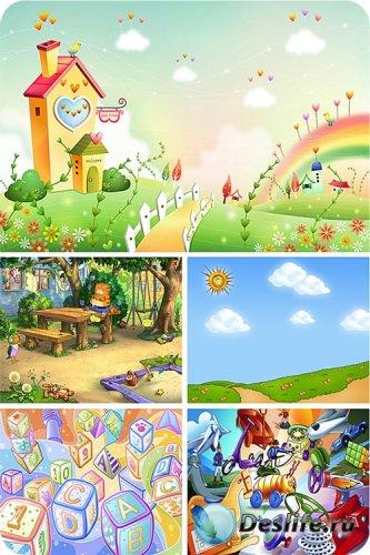 Детские красочные фоны / Children's backgrounds