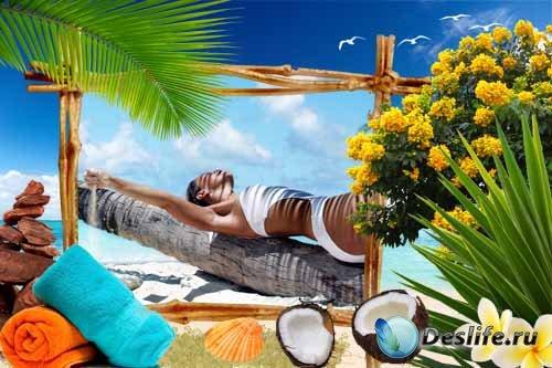 Морская рамка – Отдых под пальмами
