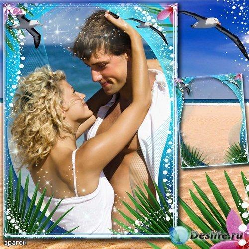 Романтическая, морская рамка для фотошопа – Шум волны