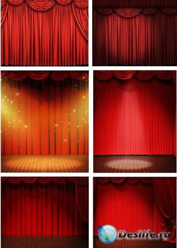 Красный сценический занавес - фотосток | Red Curtain