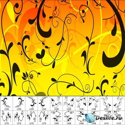 Кисти для фотошопа - Цветочные линии 3