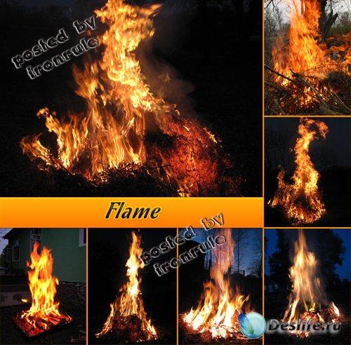 Фото-клипарт: Пламя, огонь
