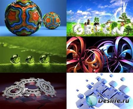 Коллекция обоев на тему 3D графика №1