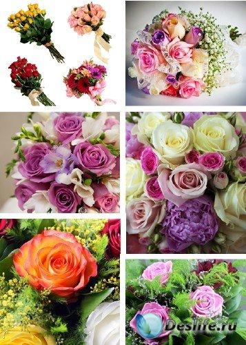 Растровый клипарт -  букеты роз