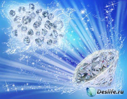 PSD-исходник - Бриллианты