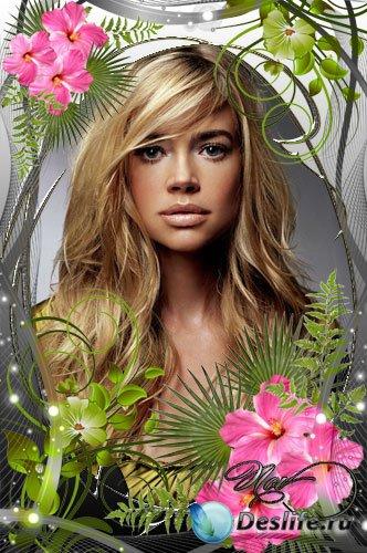 Рамочка для фотошопа - Экзотические цветы