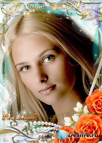 Романтическая рамка для фотошопа – Нежность роз