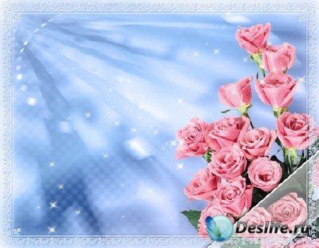 Романтическая рамка для фотошопа №1
