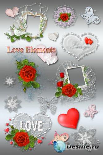 Клипарт и рамки PNG ко Дню Святого Валентина