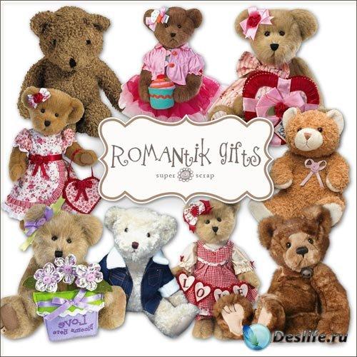 Скрап-набор - Романтические Плюшевые Мишки