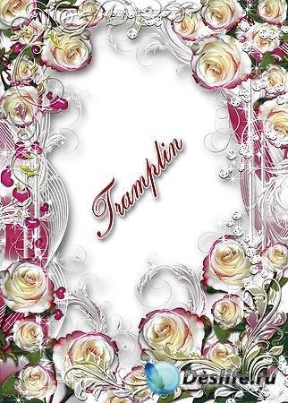 Рамка для Ваших фотографий – Люблю я Розу белую