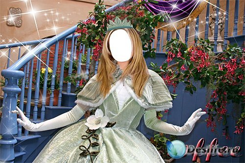 Женский костюм для фотошопа - Принцесса