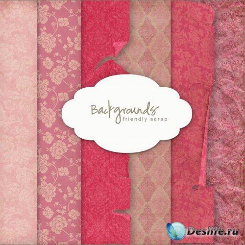 Текстуры - Розовые Старинные Финтажные Фоны