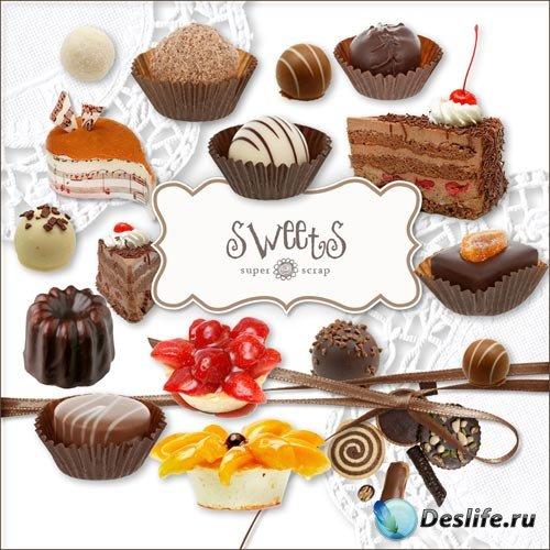 Скрап-набор - Сладости / Sweets