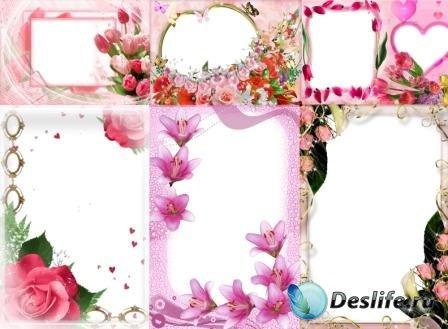 Рамки для фотографий - Розовые