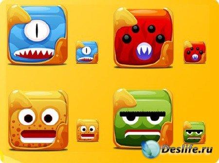 Иконки Block Creatutes