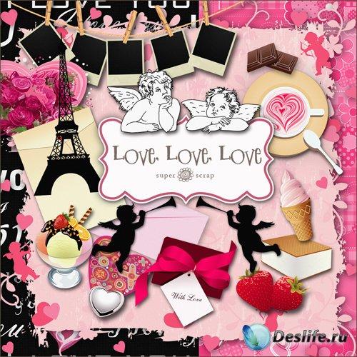 Скрап-набор - Любовь, любовь, любовь