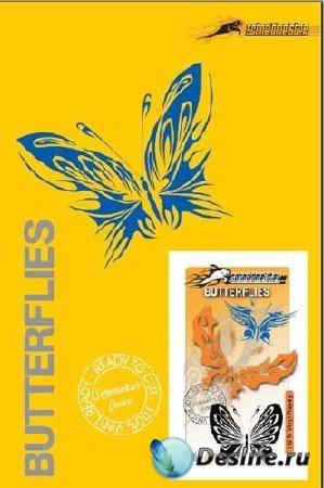 Набор векторных бабочек