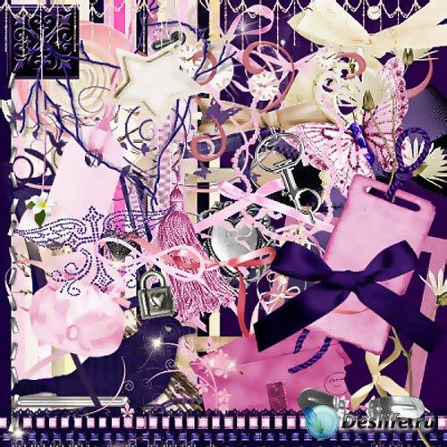 Скрап-набор - Красочный Фиолетовый Стиль