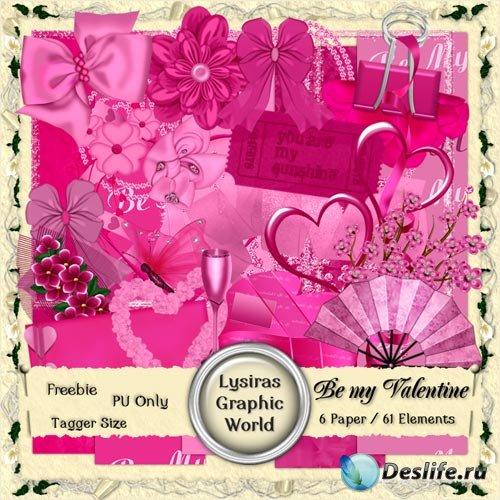 Мини Скрап-набор - Будьте Моим Валентином