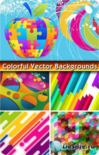 Яркие красочные фоны / Colorful vector backgrounds