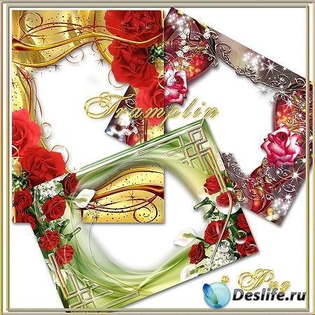 3 Очаровательных рамки с цветами - Праздник цветов
