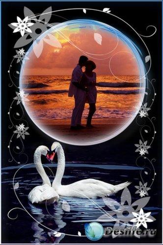 Рамка для фотошопа - Влюблённые
