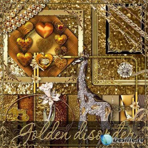 Скрап-набор - Золотой беспорядок
