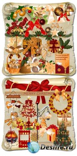 Скрап-набор - Золотое Рождество