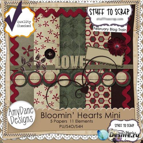 Скрап-набор - Цветующие Сердца #3