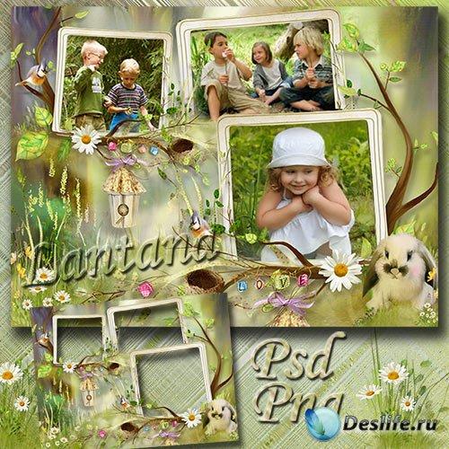 Детская рамка для фото - Мы с утра в лесу гуляем