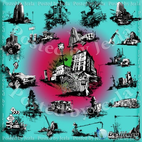 PNG Клипарт - Заброшенный Город