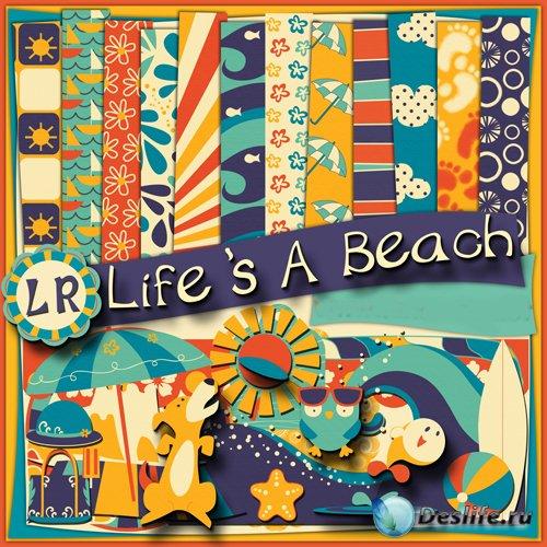 Скрап-набор - Жизнь на Пляже