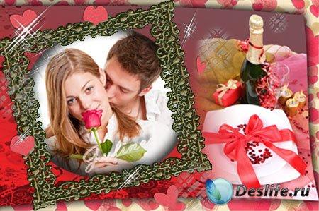 Рамка для фотошопа - Любовная история