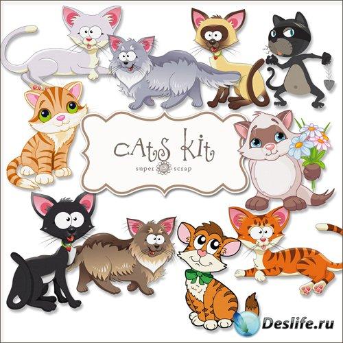 Скрап-набор - Мультипликационные Коты