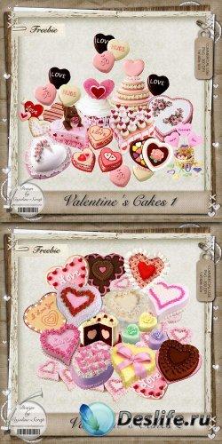 Скрап-набор - Пироги к Дню Святого Валентина