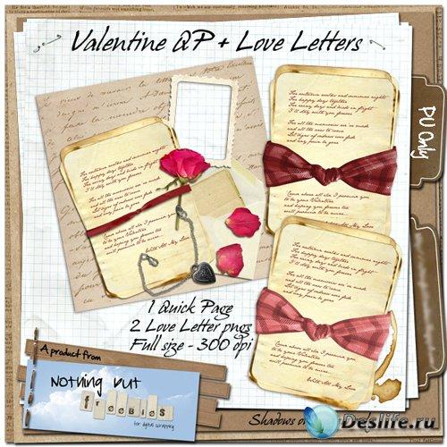 Скрап-набор - Любовное Письмо