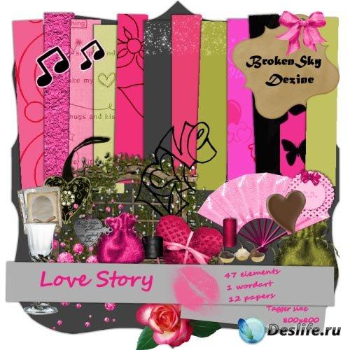 Скрап-набор - Любовная История