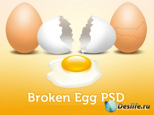PSD Исходник - Разбитое Яйцо
