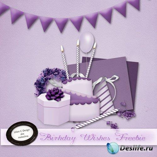 Скрап-набор - Пожелания Дня Рождения