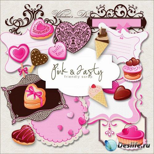 Скрап-набор - Розовый Стиль