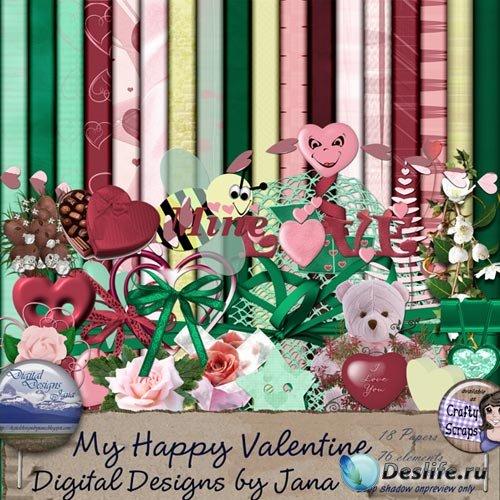 Скрап-набор - Мой Счастливый Валентин